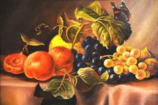 Martwa natura w postaci owoców na obrazie